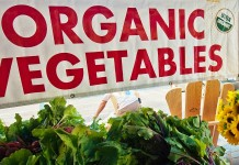organic vegetable sign