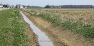 Drainage ditch,