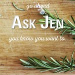 rosemary with Ask Jen text