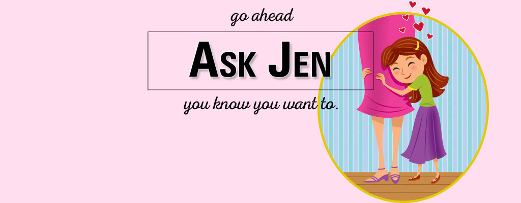 mother and daughter with Ask Jen text