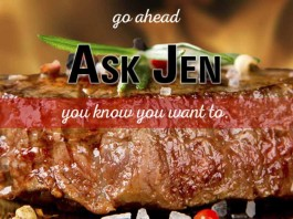 steak with Ask Jen text