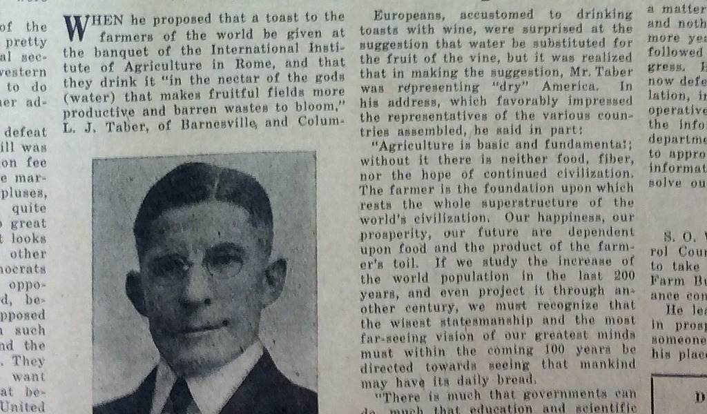 Farm and Dairy 1926 clipping