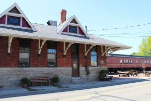 Front of the Dennison Railroad Depot Museum