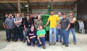 Tri-Rivers FFA Ag and Industrial Power class restored tractor