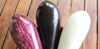 speckled, purple and white eggplant