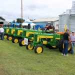 Tractors on display