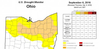 Ohio drought map