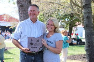 Lowell and Kara Wolff, of Wolff Farms in Medina County, accepted a Conservation Farm Family Award at Farm Science Review, Sept. 22.