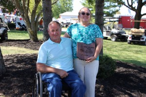 William and Shauna Wilkins were honored with a Conservation Farm Family Award at Farm Science Review, Sept. 22.