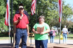 Edward and Karen Bay accepted a Conservation Farm Family Award at Farm Science Review, Sept. 22.