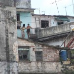 Cuban women on balcony