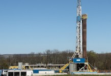 shale oil and gas drilling rig