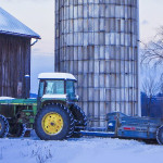 winter farm tractor
