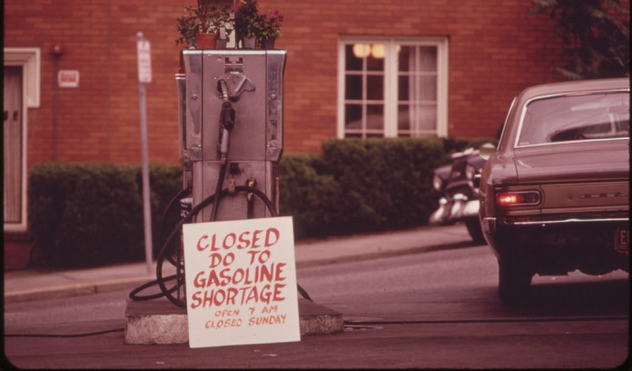 1973 oil embargo-triggered gasoline shortage