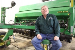 John Motter with planter