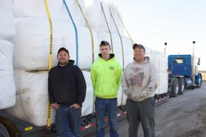 Lengachers bring hay to Kansas