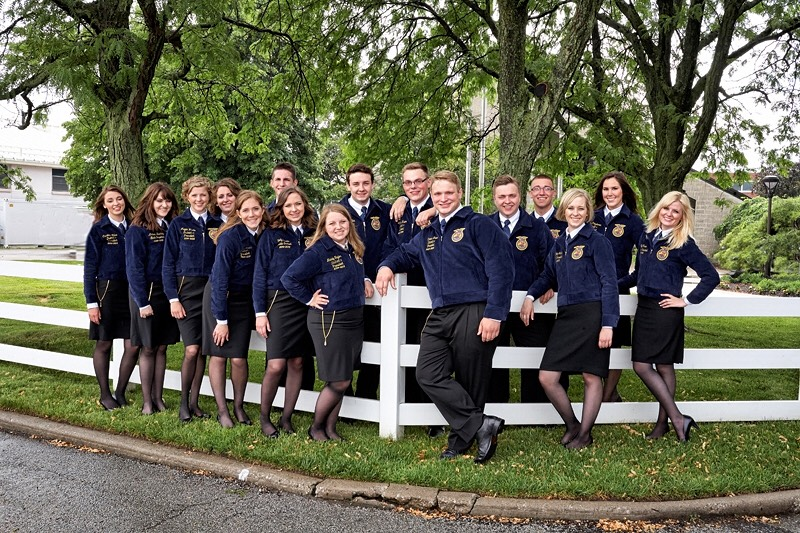 Ohio FFA officer team