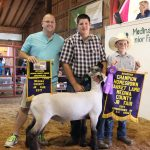 Medina County reserve champion homegrown lamb