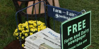 Farm and Dairy newsstand.