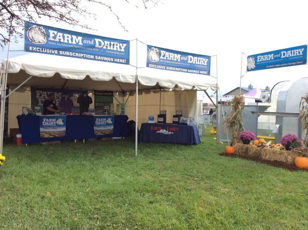 Farm and Dairy booth at the 2017 Farm Science Review.