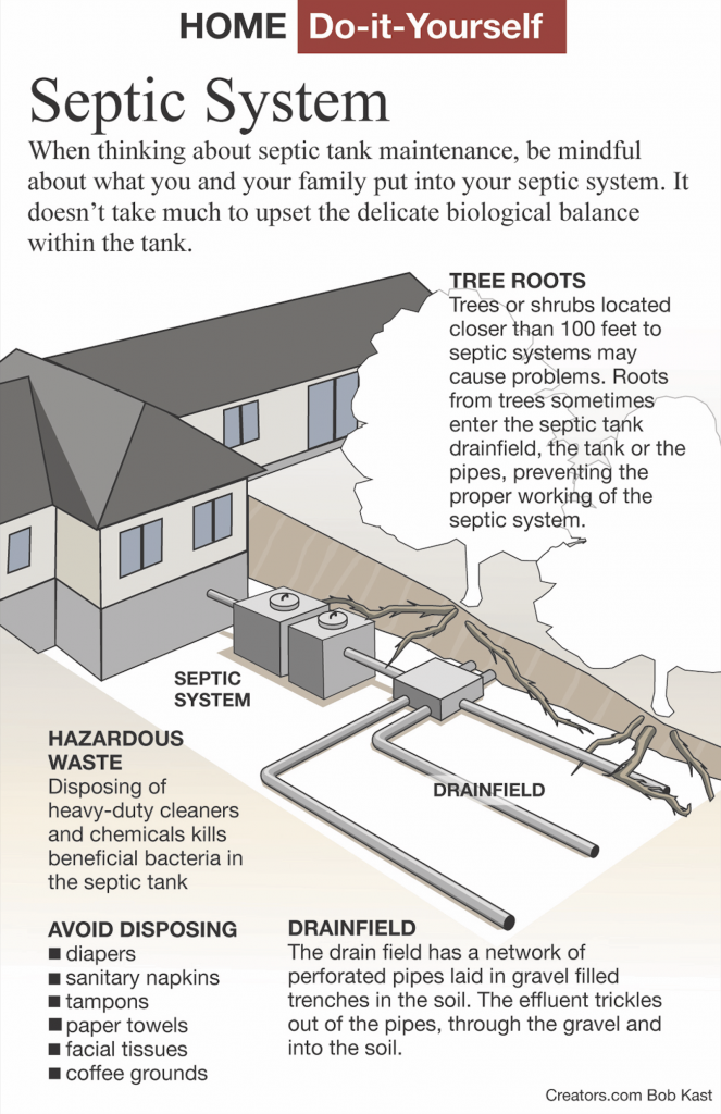 Septic system maintenance infographic