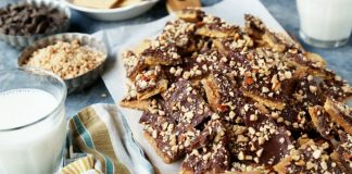 Graham Cracker Chocolate Toffee Bark