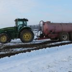 Winter manure spreading