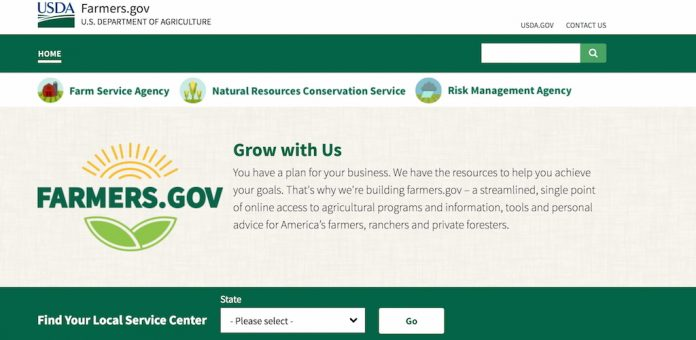 New USDA website