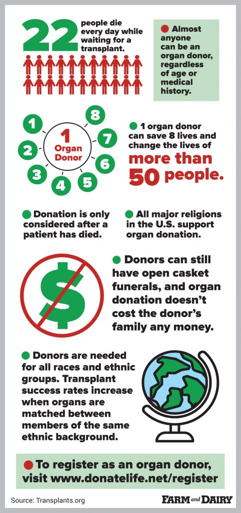 Organ donor infographic