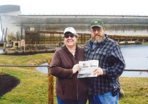 Todd and Laura Hall visiting the Ark Encounter with the Farm and Dairy.
