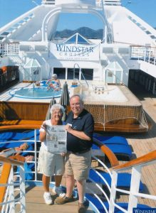 Henry and Dona Bergfeld took their Farm and Dairy with them on a Panama Canal Cruise.