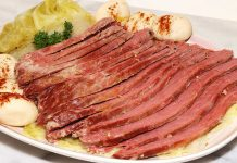 Corned Beef, Cabbage and Potatoes on a plate
