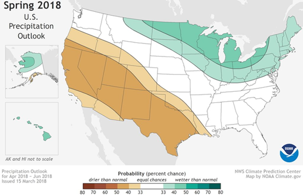 NOAA spring 2018 weather forecast