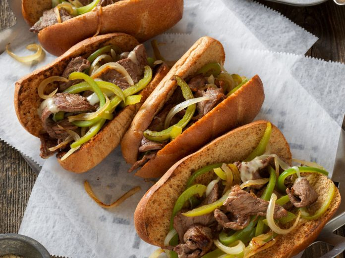 Philly Cheese Steaks on a tray