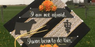 Hannah Jarvis decorated cap