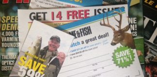 hunting and fishing magazines