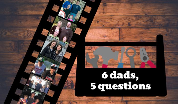6 dads, 5 questions graphic