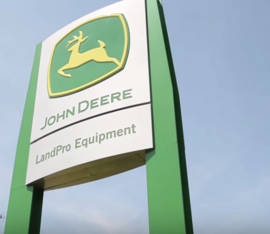 LandPro Equipment sign