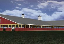 rendering of Portage County Fair building