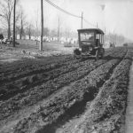 Model T on Muddy Road