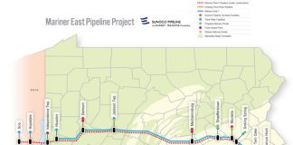 Mariner East 2 pipeline map
