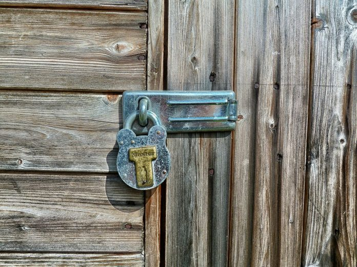 locked garden shed