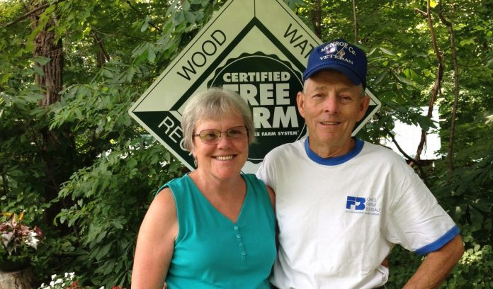 John and Bess Lusk tree farm owners