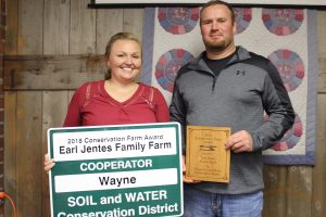 The second Cooperator award went to the Earl Jentes family, of Wooster.