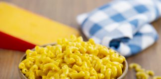 A bowl of Slow Cooker Mac and Cheese