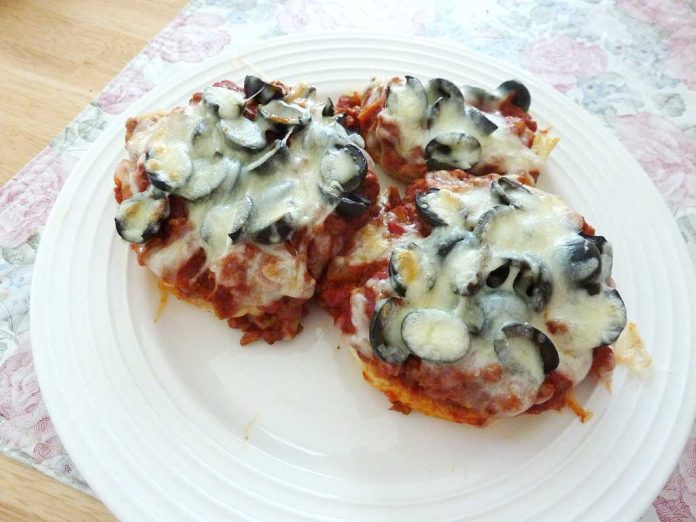 Personal Pizzas on a plate