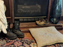 boots by a doorway