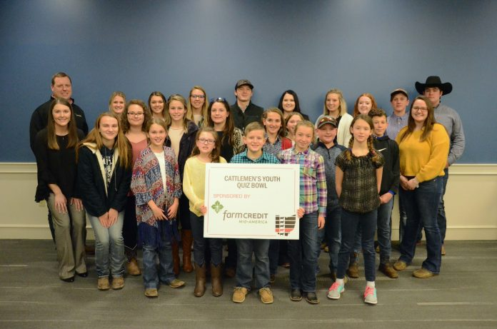Youth Beef Quiz Bowl Participants