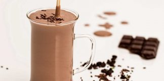A glass of Chocolate Frappe