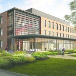 Rendition of the future Wooster Science Building.